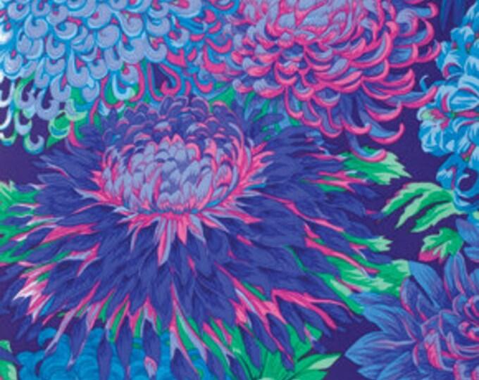 Kaffe Fassett Collective Chrysanthemum Blue - 1/2yd