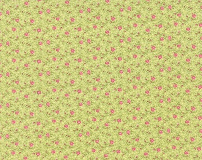 Bespoke Blooms Tiny Flowers Light Green - 1/2yd