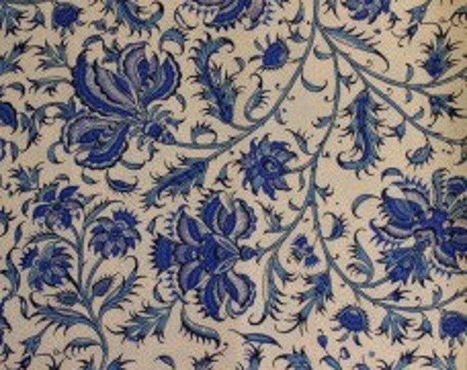 Dutch Heritage Gugarat China Blue 1020 - 1/2yd