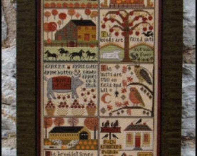 Autumn at Hawk Run Hollow - Carriage House Samplings - Cross Stitch Chart