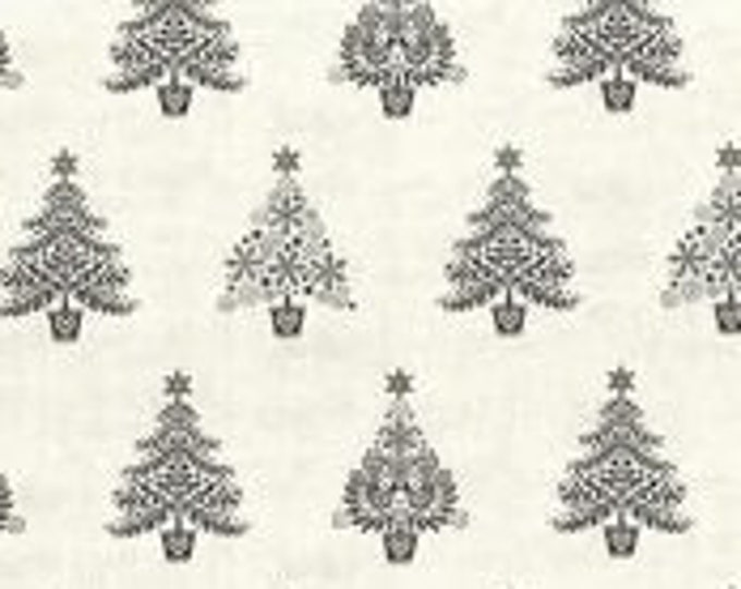 Christmas Village 1963S Grey - 1/2yd