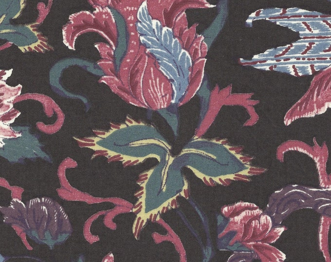 Dutch Chintz - Tulips Dark Brown