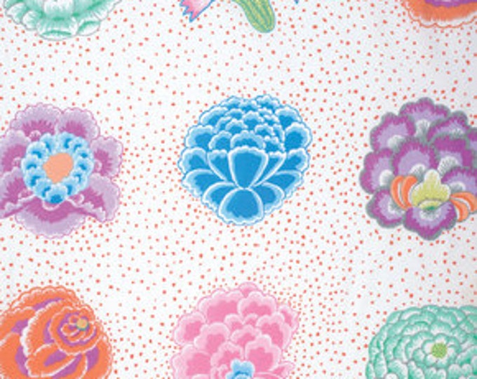Kaffe Fassett Collective Corsage White - 1/2yd