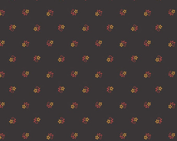 Lampblack - Snug Flowers Red 8476K - 1/2yd