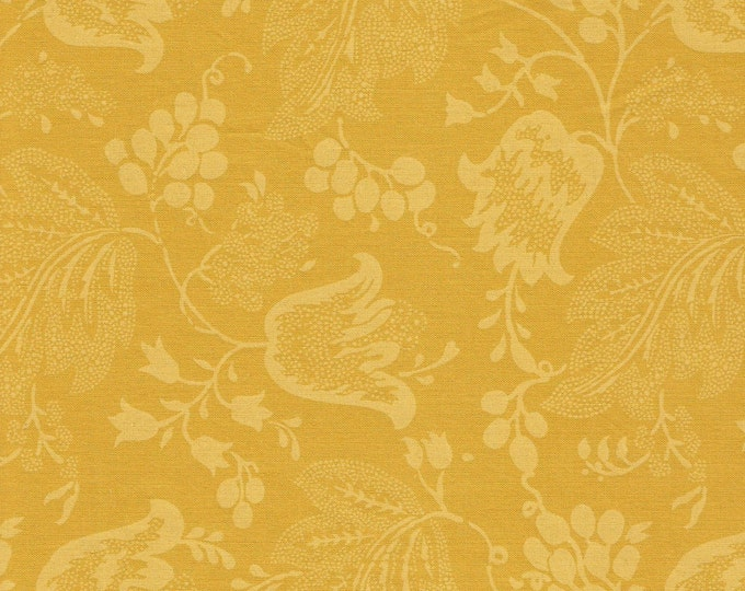 Dutch Chintz -Yellow-Gold - Ton sur Ton FQ