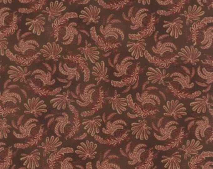 Community Ferns Brown - 1/2yd