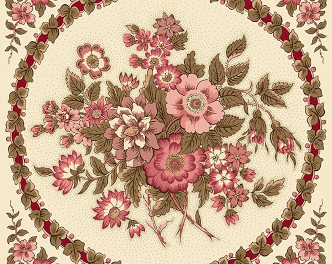 Windermere by Di Ford Hall - Bouquet Rose 8915E - strip of 4 panels