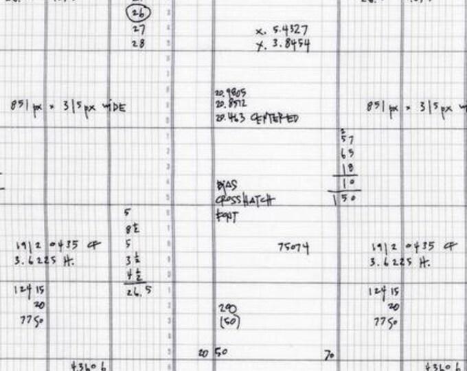 Architextures Spreadsheet Grey - 1/2yd