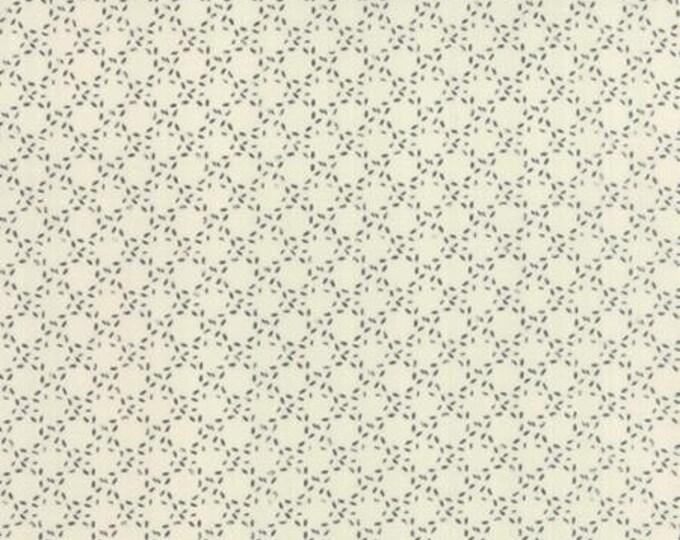 Modern BG Paper Stitched Circles Black Eggshell - 1/2yd