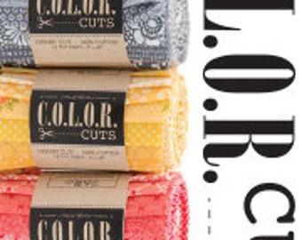 Moda C.O.L.O.R. Cuts - Cake Cuts - 6 colorways