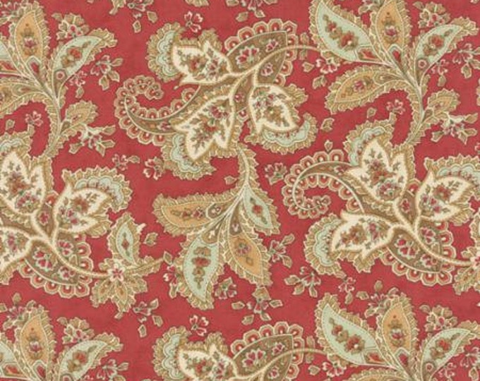 Larkspur Paisley Red - 1/2yd