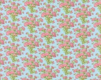 Bespoke Blooms Hydrangea Aqua - 1/2yd