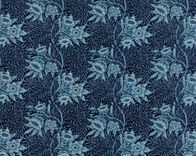 William Morris Tulip WIllow 1873 Dk Blue 730216 - 1/2yd