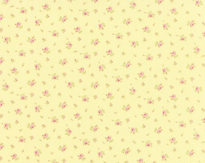 Bespoke Blooms Sprinkled Floral Yellow - 1/2yd