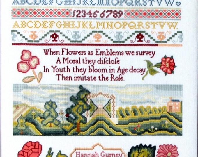 Hannah Gurney 1796 - Queenstown Sampler Designs - Cross Stitch Chart