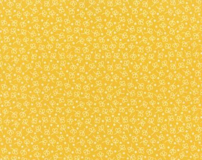 Bread n Butter Simple Leaf Yellow - 1/2yd