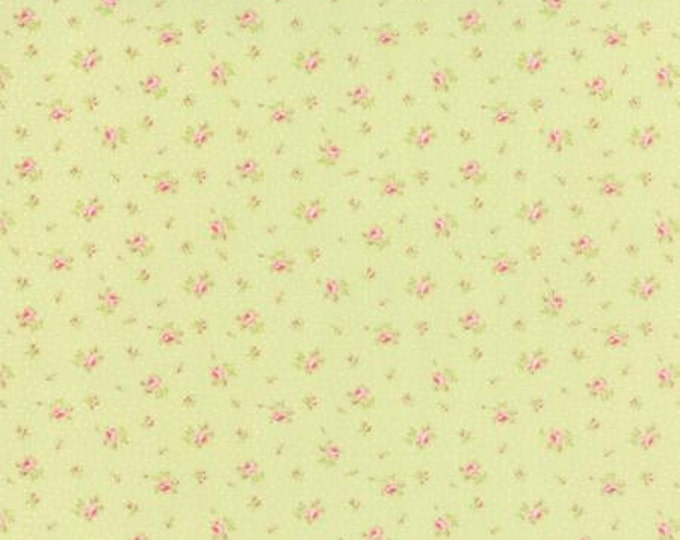 Bespoke Blooms Sprinkled Floral Light Green - 1/2yd