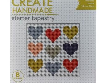 Starter Tapestry Kit - Scandi Hearts