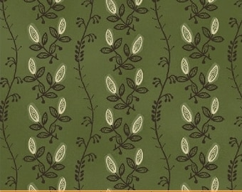 Tree of Life Vine Green - 1 yd