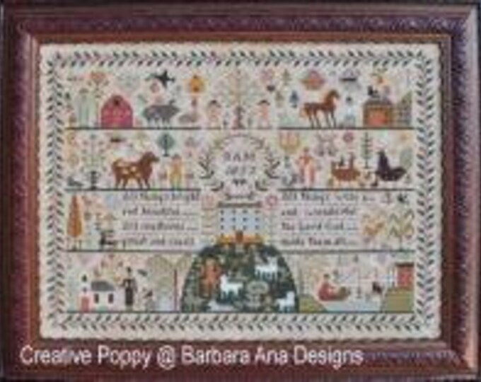 All Creatures Great and Small - Barbara Ana Designs - Cross Stitch Chart