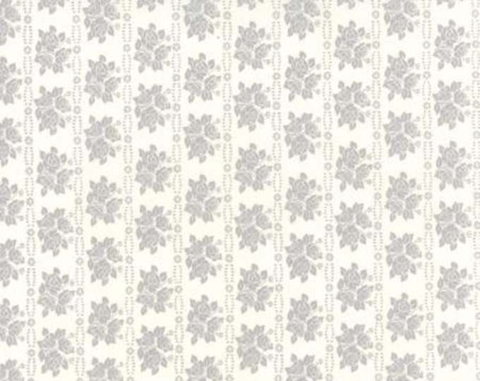 Bespoke Blooms Rose Rows Grey - 1/2yd