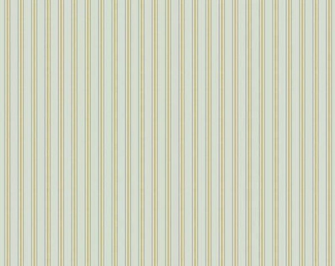 Morris & Co - Kelmscott Gilt Stripes Aqua PWWM007 - 1/2yd