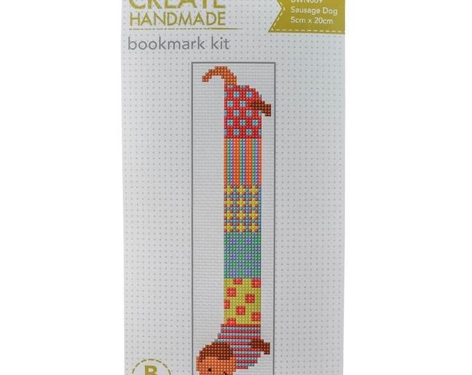 Cross Stitch Bookmark Kit - Sausage Dog
