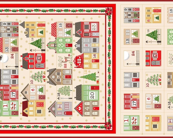 Silent Night Advent Calendar 1981C - 1/2yd