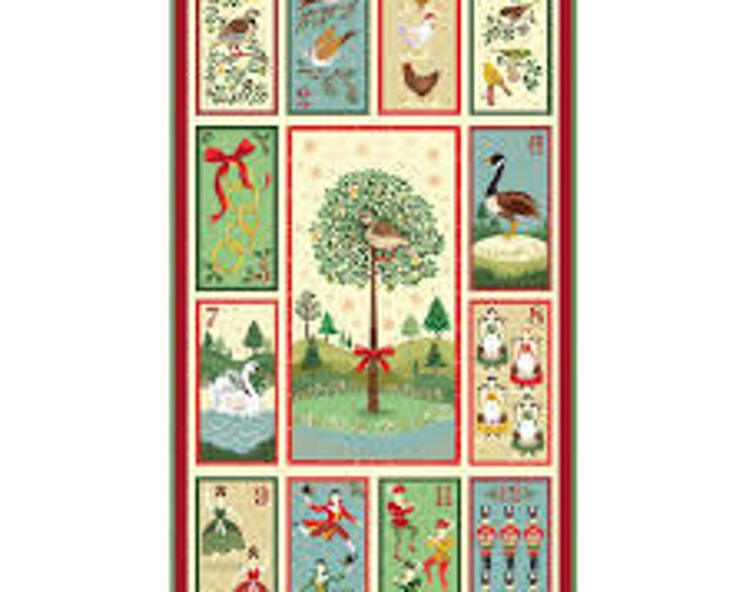 12 Days of Christmas Panel 2104-1 - 1/2yd
