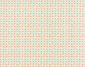 Bespoke Blooms Posie Plaid Linen White - 1/2yd