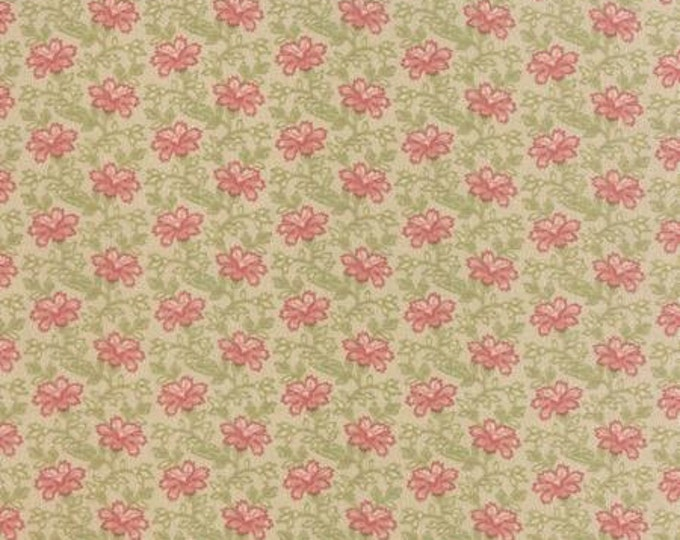 Country Orchard by Blackbird Designs - Trailing Floral Natural Cream - 1/2yd