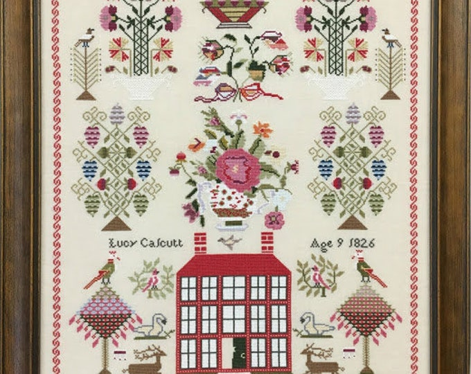 Miss Lucy Calcutt 1826 - Just Stitching Along - Cross Stitch Chart