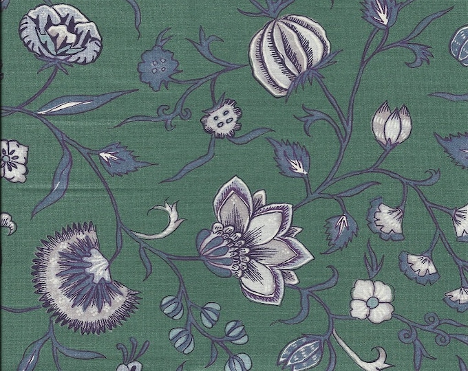 Dutch Chintz  - Wilhelmina Green Mauve FQ