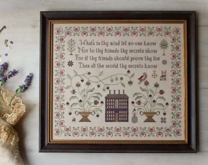 On Prudence - Plum Street Samplers - Cross Stitch Chart