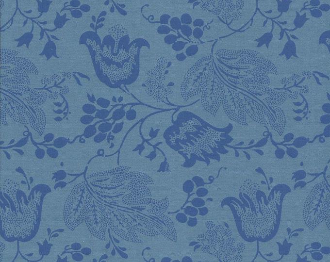 Dutch Chintz - Turquoise - Ton sur Ton FQ