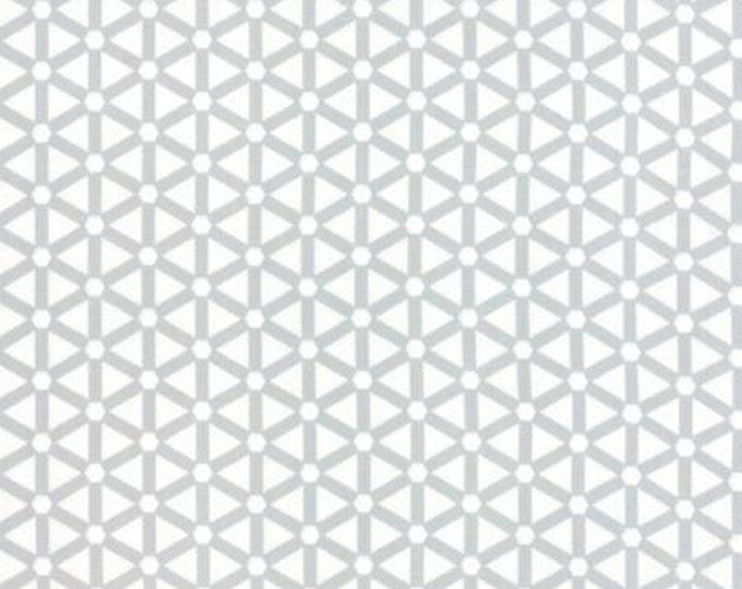 Modern BG Paper Hexagon Wheels Silver Off White - 1/2yd