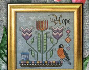 Promise Of Spring - Songbird's Garden #4 - Cottage Garden Samplings - Cross Stitch Chart