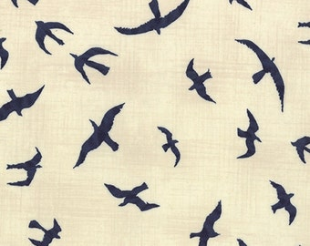 More Hearty Good Wishes by Janet Clare - Seagulls on Pearl - 1/2yd