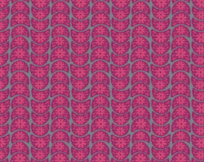 True Colors Anna Maria Horner Crescent Bloom Fuchsia - 1/2yd