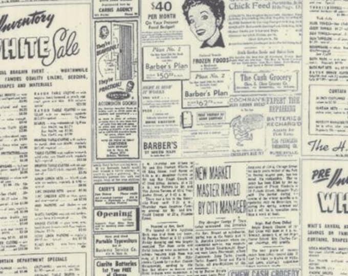 Modern BG Paper Newsprint Graphite Eggshell - 1/2yd