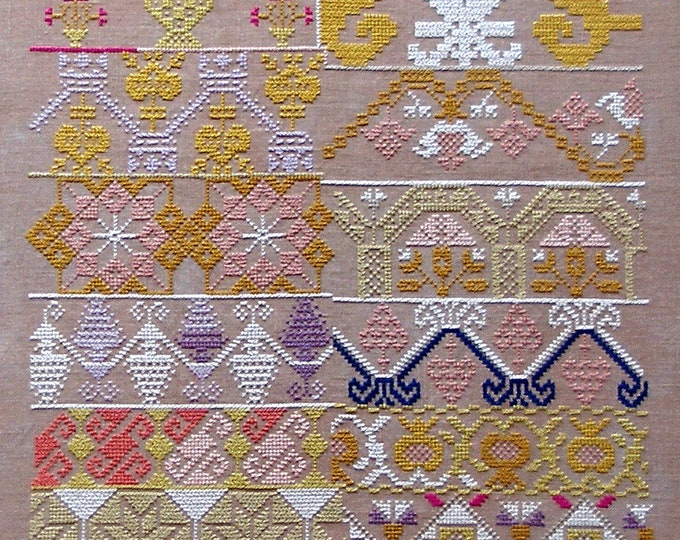 Aztec Gold Sampler - Queenstown Sampler Designs - Cross Stitch Chart