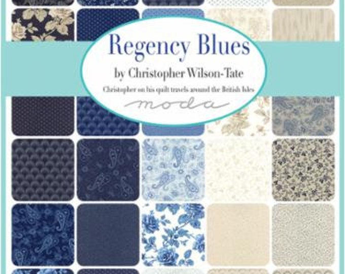 Regency Blues - 37 x Fat 8ths Bundle
