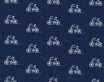 London Calling Lawn 6 - Bicycles Indigo - 1/2 yard