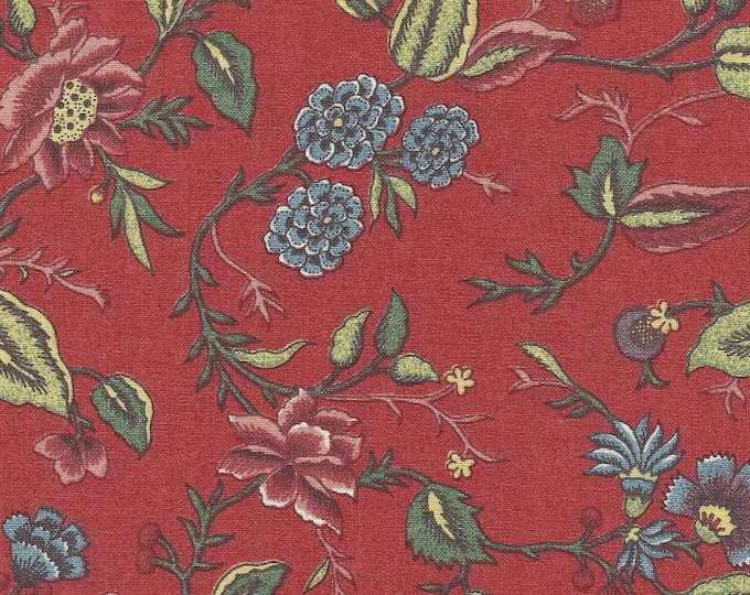 Dutch Chintz - Oberkampf Petit Madder Red 12yd