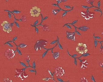 Dutch Chintz - Flowers from Paradise - Pale Red 1/2 yd
