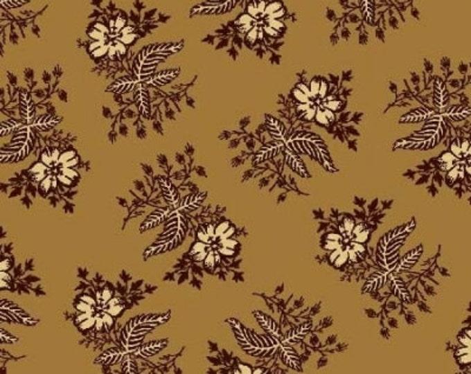 Enduring Legacy - Brown Floral on Mustard