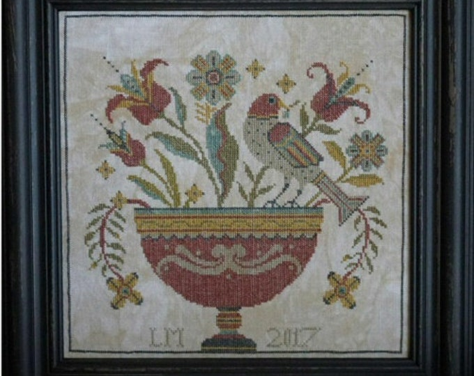 Fraktur Flowers - La-D-Da - Cross Stitch Chart