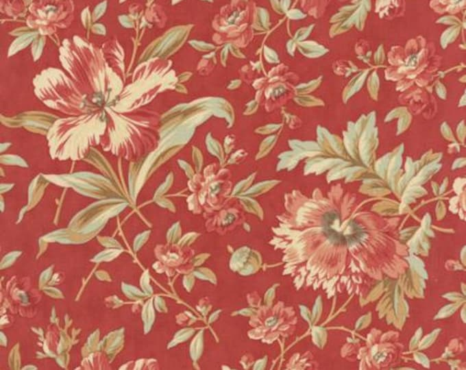 Larkspur Garden Blooms Red - 1/2yd