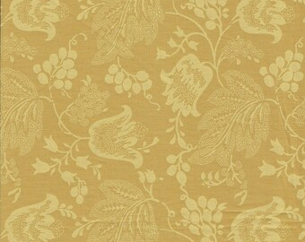 Dutch Chintz - Pale Ochre - Ton sur Ton - 1/2 yd