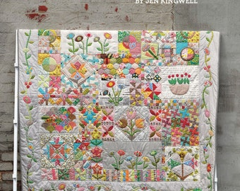 Green Tea and Sweet Beans Quilt Pattern Booklet by Jen Kingwell